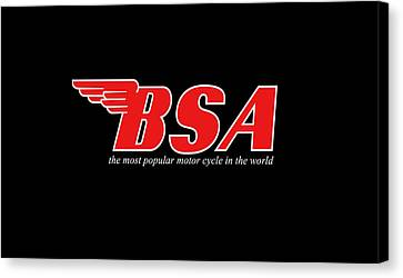 Classic Bsa Phone Case Canvas Print by Mark Rogan
