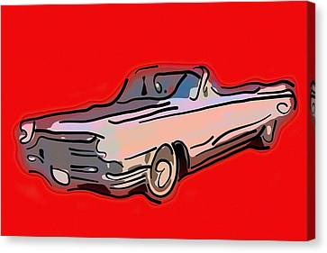 Classic Cadillac Car  Canvas Print by Tommytechno Sweden