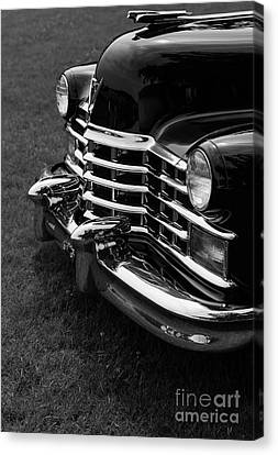 Classic Cadillac Sedan Black And White Canvas Print by Edward Fielding