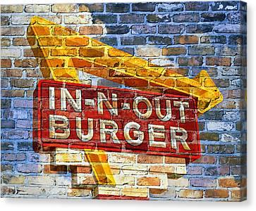 Classic Cali Burger 2.1 Canvas Print by Stephen Stookey