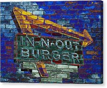 Burger Canvas Print - Classic Cali Burger 2.2 by Stephen Stookey
