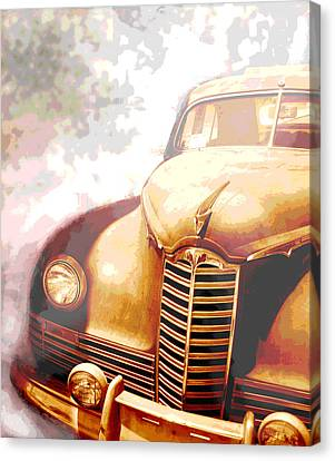 Rusted Cars Canvas Print - Classic Car 1940s Packard  by Ann Powell