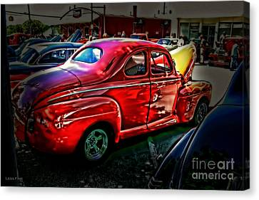 Classic Car Art - The Car Show Canvas Print by Lesa Fine