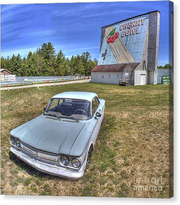 Classic Car At The Drive-in Canvas Print