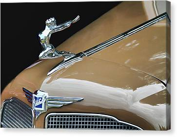 Classic Car - Buick Victoria Hood Ornament Canvas Print by Peggy Collins