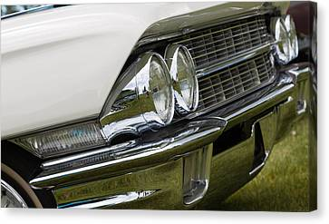 Classic Car Front Wing And Lights Canvas Print by Mick Flynn
