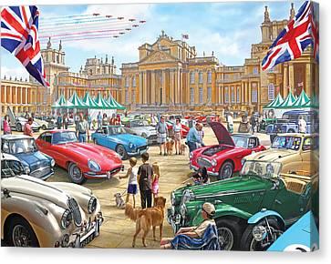 Classic Car Show At Blenheim 2015 Canvas Print