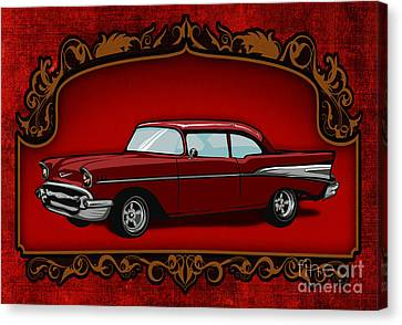 Classic Cars 01 Canvas Print by Bedros Awak