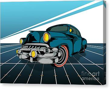 Classic Cars 03 Canvas Print by Bedros Awak