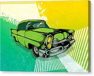 Classic Cars 04 Canvas Print by Bedros Awak