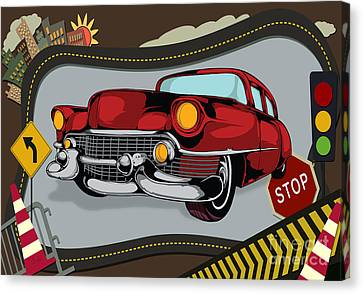 Classic Cars 05 Canvas Print by Bedros Awak