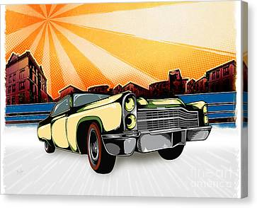 Classic Cars 10 Canvas Print by Bedros Awak