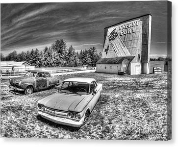 Classic Cars At The Drive-in Canvas Print