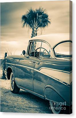 Classic Chevy Bel Air '57 Canvas Print by Edward Fielding