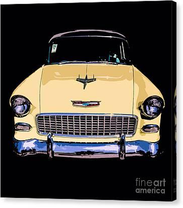 Classic Chevy Pop Art Canvas Print by Edward Fielding