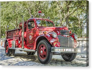 Classic Chevy Fire Truck  Canvas Print by Drew Castelhano