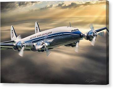 Classic Constellation Canvas Print by Peter Chilelli
