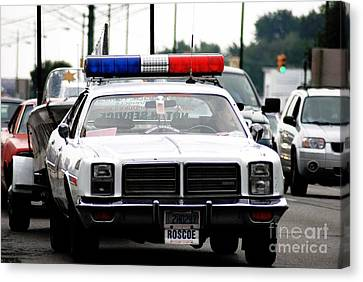 Classic Cop Car Canvas Print by Optical Playground By MP Ray