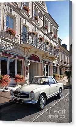 Mercedes Automobile Canvas Print - Classic Elegance by Olivier Le Queinec