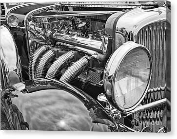 Classic Engine - Classic Cars At The Concours D Elegance. Canvas Print by Jamie Pham