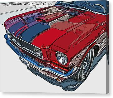 Classic Ford Mustang Nose Study Canvas Print by Samuel Sheats
