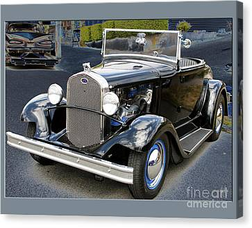 Canvas Print featuring the photograph Classic Ford by Victoria Harrington
