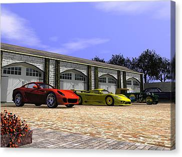 Classic Garage Canvas Print by John Pangia