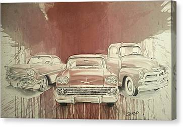Classic Gsm Canvas Print by Steven  Nakamura