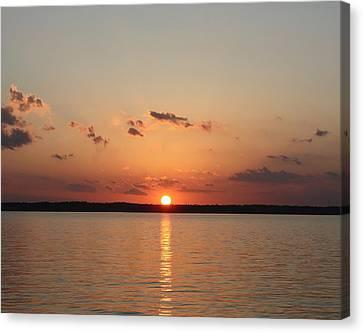 Classic Lake Sunset Canvas Print