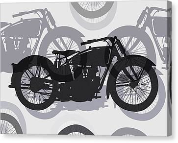 Classic Motorcycle  Canvas Print by Daniel Hagerman
