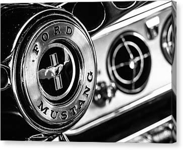 Classic Mustang Interior Detail Canvas Print by Jon Woodhams