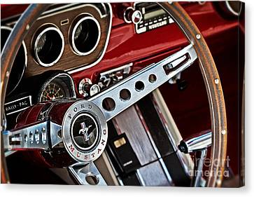 Classic Mustang Interior Canvas Print by Jarrod Erbe