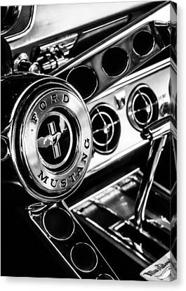 Classic Mustang Interior Canvas Print by Jon Woodhams