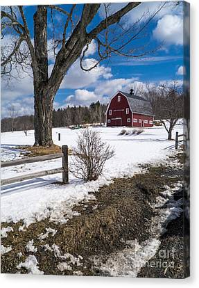 Classic New England Farm Scene Canvas Print