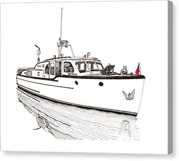 Classic Northwest Yacht Canvas Print by Jack Pumphrey