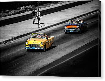 Classic Old Cars V Canvas Print by Patrick Boening