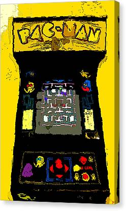 Classic Pacman Canvas Print by David Lee Thompson