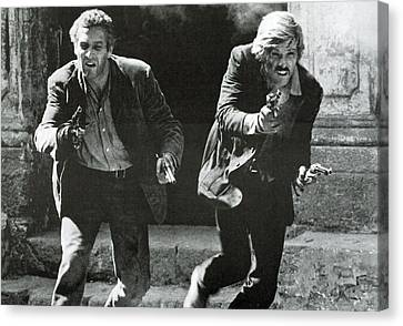 Classic Photo Of Butch Cassidy And The Sundance Kid Canvas Print