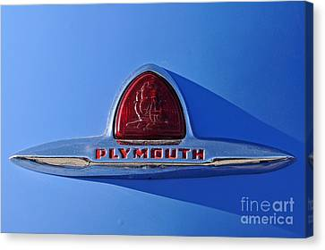 Classic Plymouth Badge Canvas Print by George Atsametakis