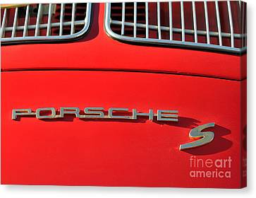 Classic Porsche S Logo Canvas Print by George Atsametakis