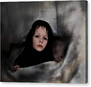 Classic Portrait Of A Son Canvas Print