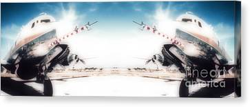 Canvas Print featuring the photograph Propeller Aircraft by R Muirhead Art
