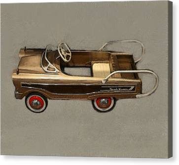 Classic Ranch Wagon Pedal Car Canvas Print by Michelle Calkins
