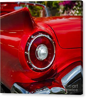 Canvas Print featuring the photograph 1957 Ford Thunderbird Classic Car  by Jerry Cowart