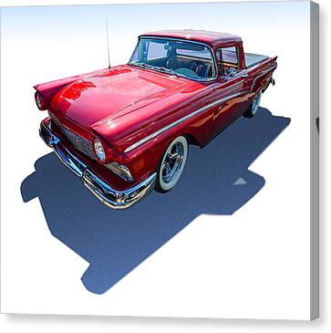 Canvas Print featuring the photograph Classic Red Truck by Gianfranco Weiss