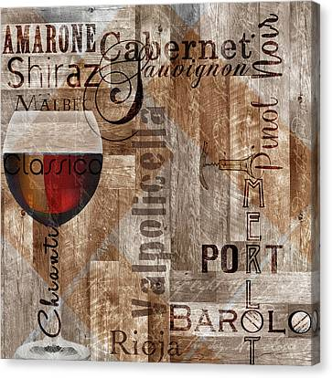 Classic Red Wines Canvas Print