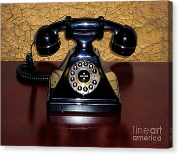 Classic Rotary Dial Telephone Canvas Print by Mariola Bitner