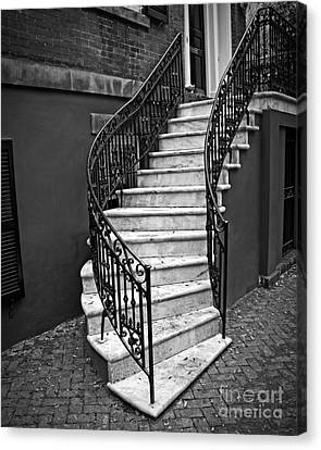 Classic Staircase Canvas Print by Perry Webster
