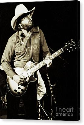 Daniel Canvas Print - Classic Toy Caldwell Of The Marshall Tucker Band At The Cow Palace-new Years Concert  by Daniel Larsen