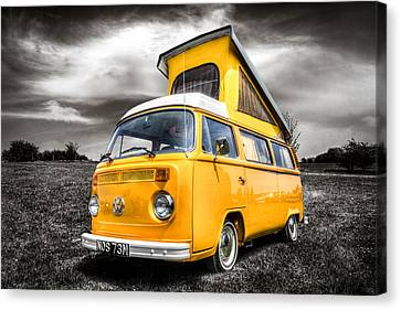 Classic Vw Campervan Canvas Print by Ian Hufton